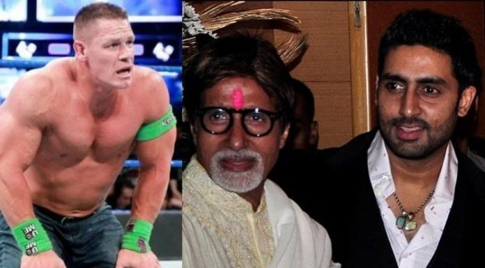 John Cena Shared Amitabh Bachchan And Abhishek Bachchan Photo After Affected By Covid 19