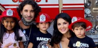 Sunny Leone trains her kids for fire safety shares photo