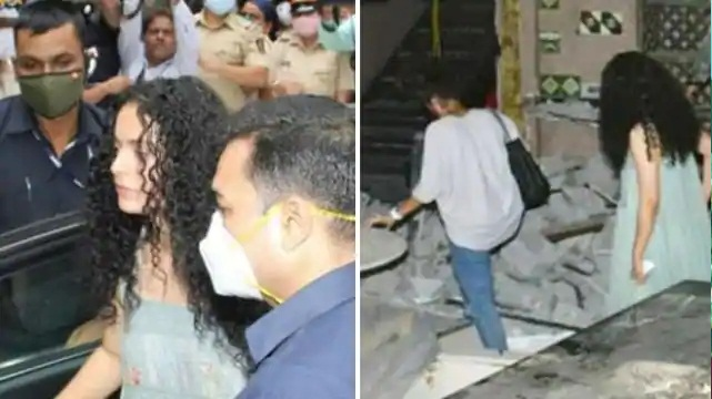 Kangana Ranaut arrived to see the broken office, watched the BMC action after stopping for 10 minutes, photos surfaced