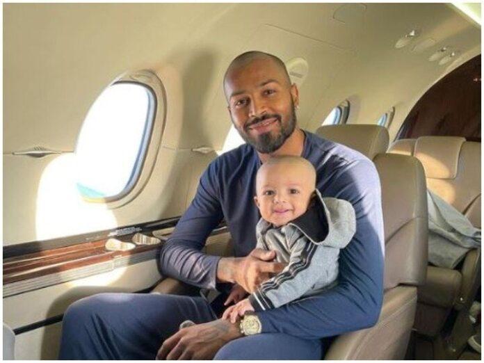 Hardik Pandya shared son's first flight photo, Sunil Grover made fun comments