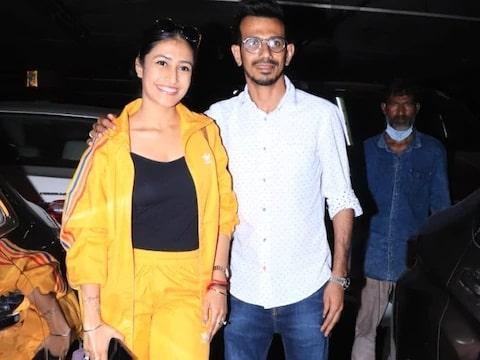 Chahal and Dhanashree appeared together at Mumbai airport, see photos
