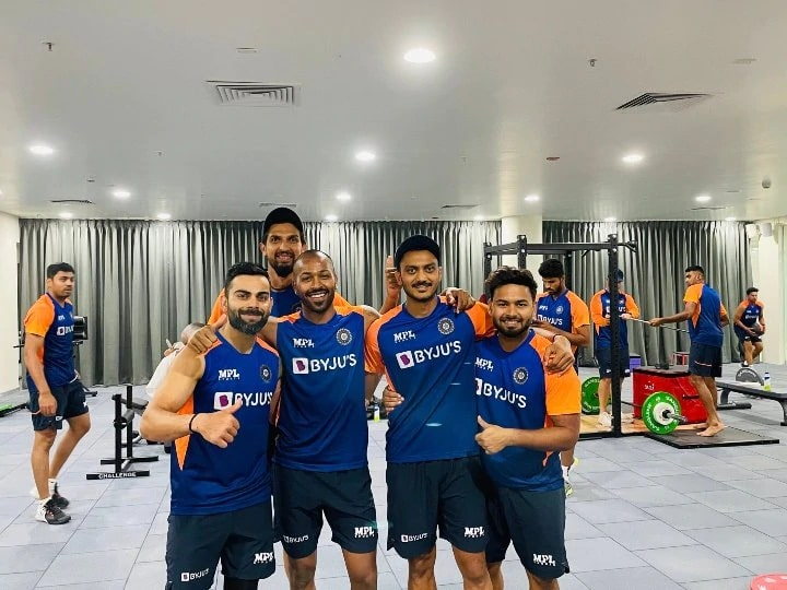 Indian players shed sweat in Motera's gym, Hardik Pandya shared the workouts photo