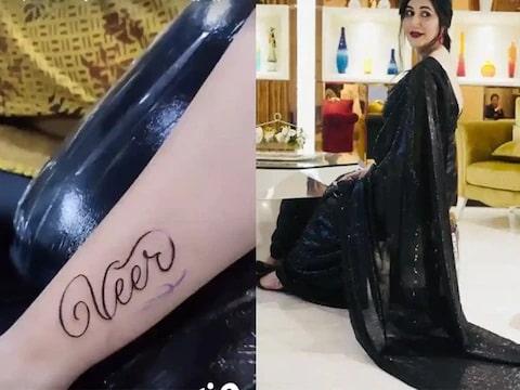Sapna Choudhary tattooed her husband's name on her arm, see photos