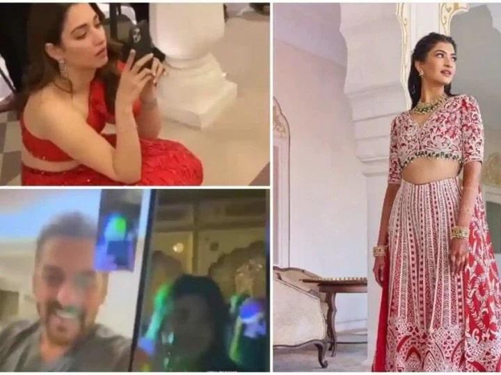 Salman Khan, Tamanna Bhatia photographed the bride in a fashion blogger's wedding