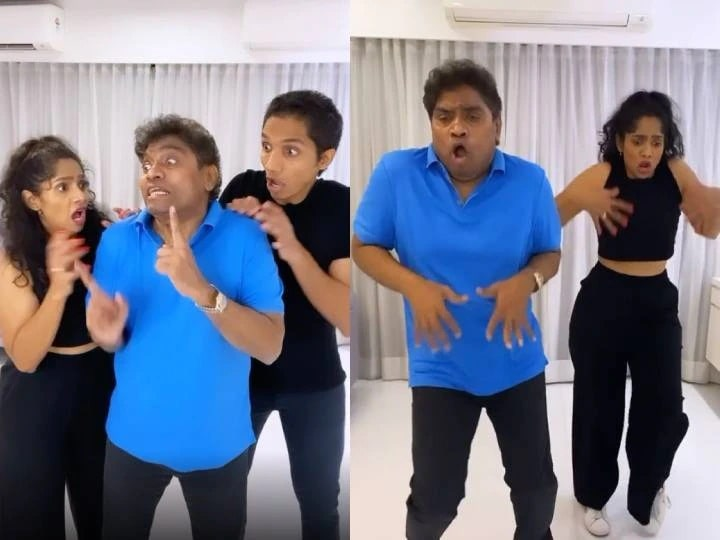 Johnny Lever's Dhansu dance with son-daughter on Don't Touch Me Song, this video with a funny expression went viral
